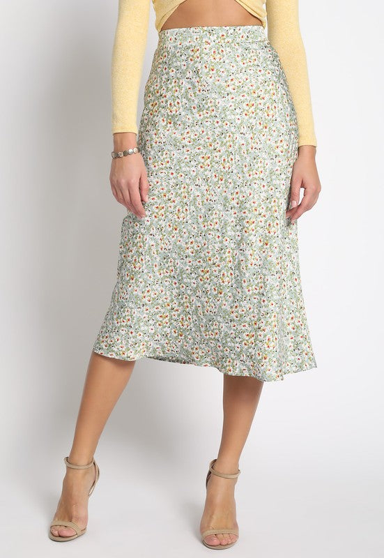 Flower Power Satin Midi
