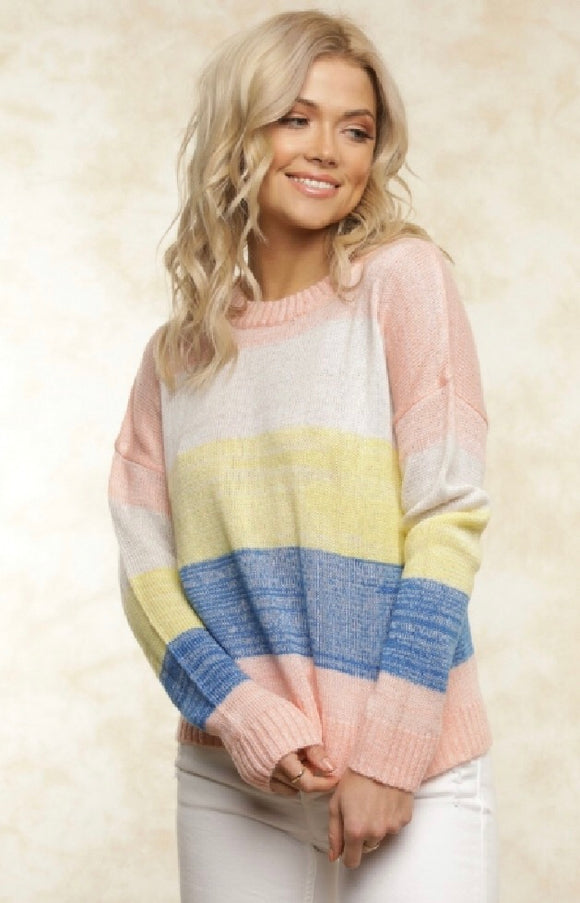 Lemon striped sweater