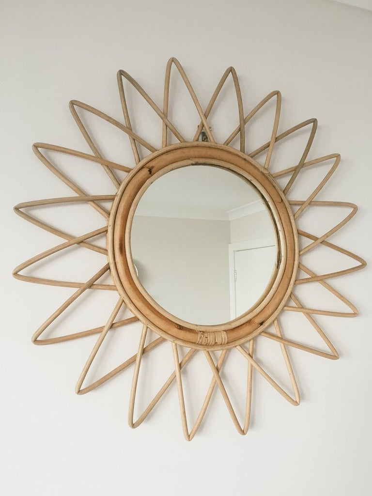 Rattan Star Mirror - Wonder and Luck