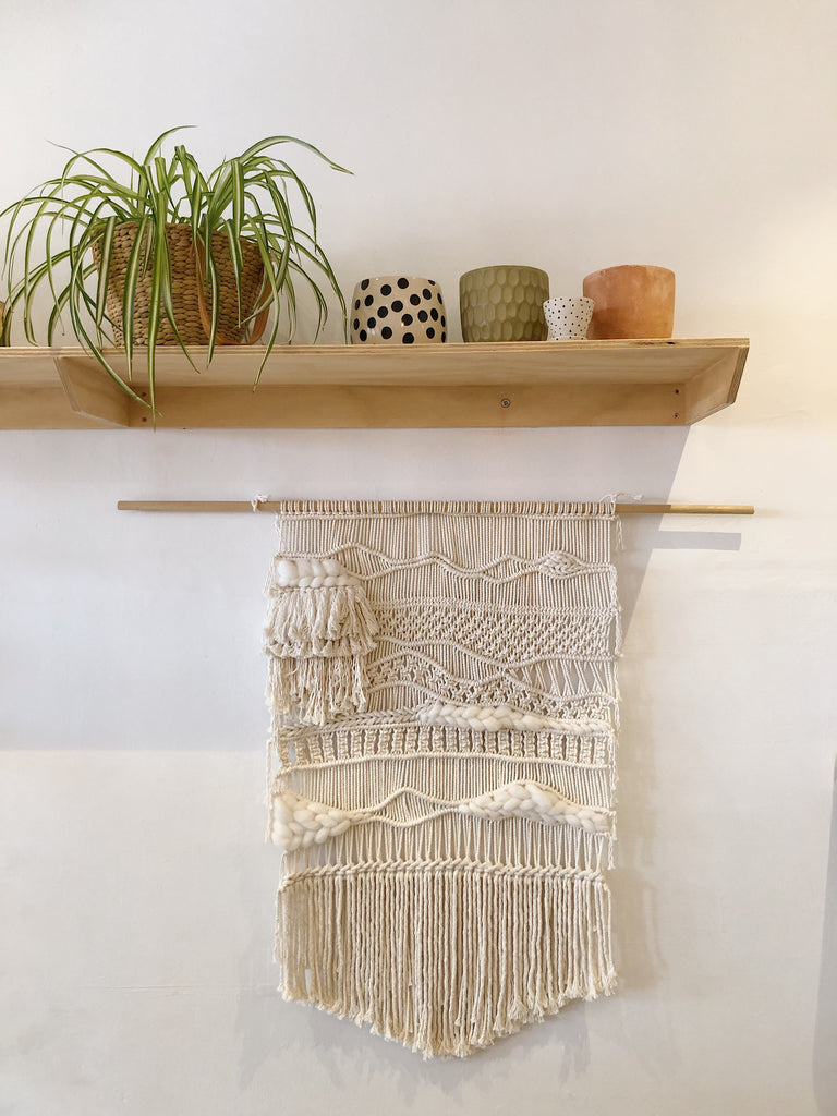 Contemporary Macrame Art wall hanging - Wonder and Luck