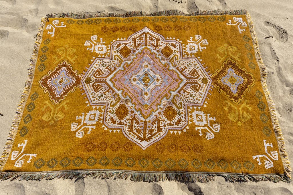 The Zahara Rug - Mustard - Wonder and Luck