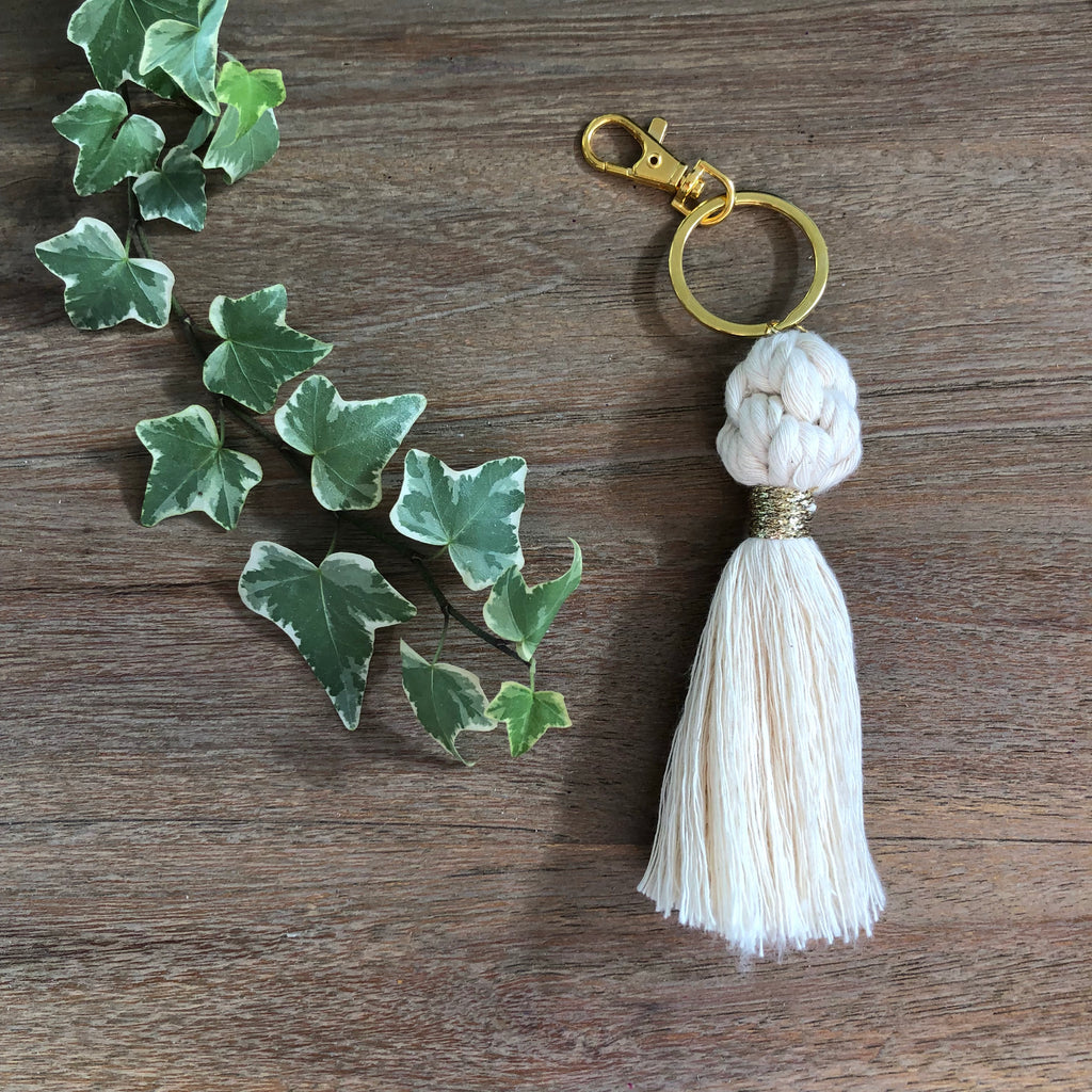 Cotton Tassel Key chain. - Wonder and Luck
