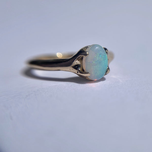 Classic Oval Opal Ring
