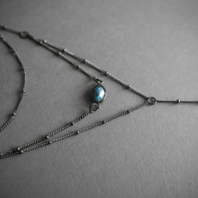 Load image into Gallery viewer, Layered Labradorite Lariat Necklace, Jewelry, Iron Oxide - Altar PDX