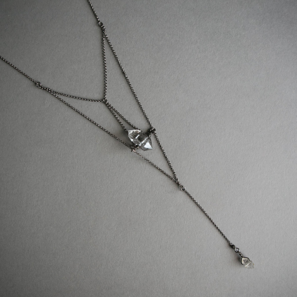 Prism Lariat Necklace, Jewelry, Iron Oxide - Altar PDX