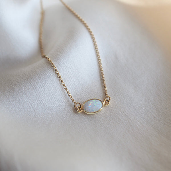 Gold Flashy Opal Choker