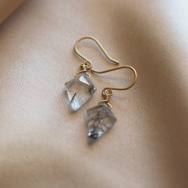 Tourmalated Quartz Amulet Earrings