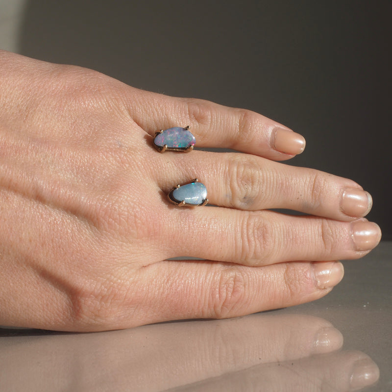 One of a Kind Floating Boulder Opal Ring 2