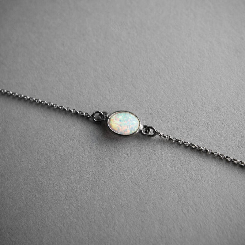 Flashy Opal Choker, Jewelry, Iron Oxide - Altar PDX