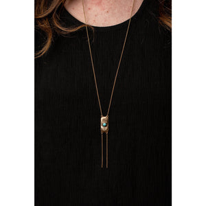Gem Set Bolo Necklace