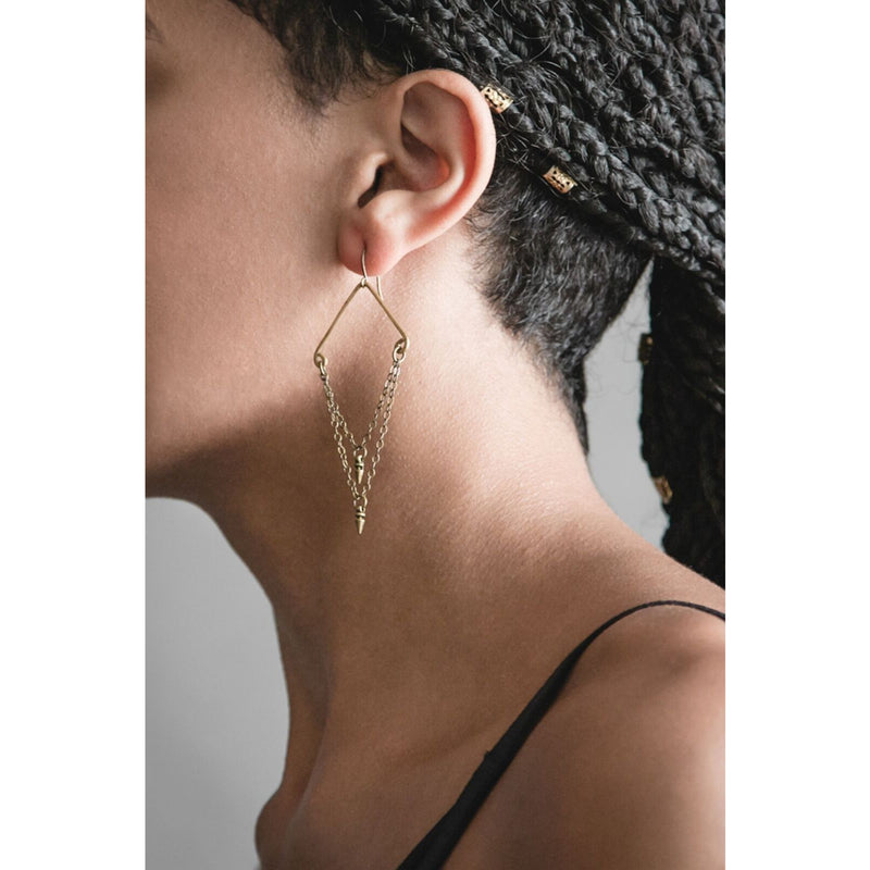 Double Dart Earrings
