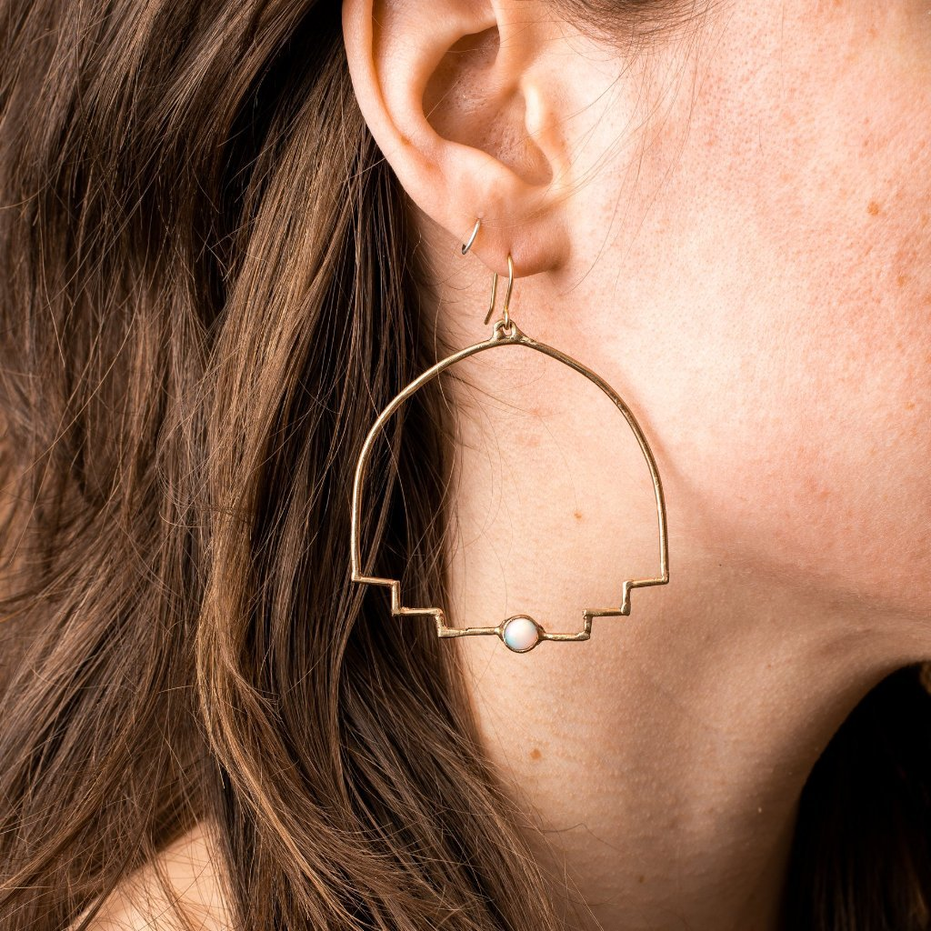 New Step Hoop Earrings