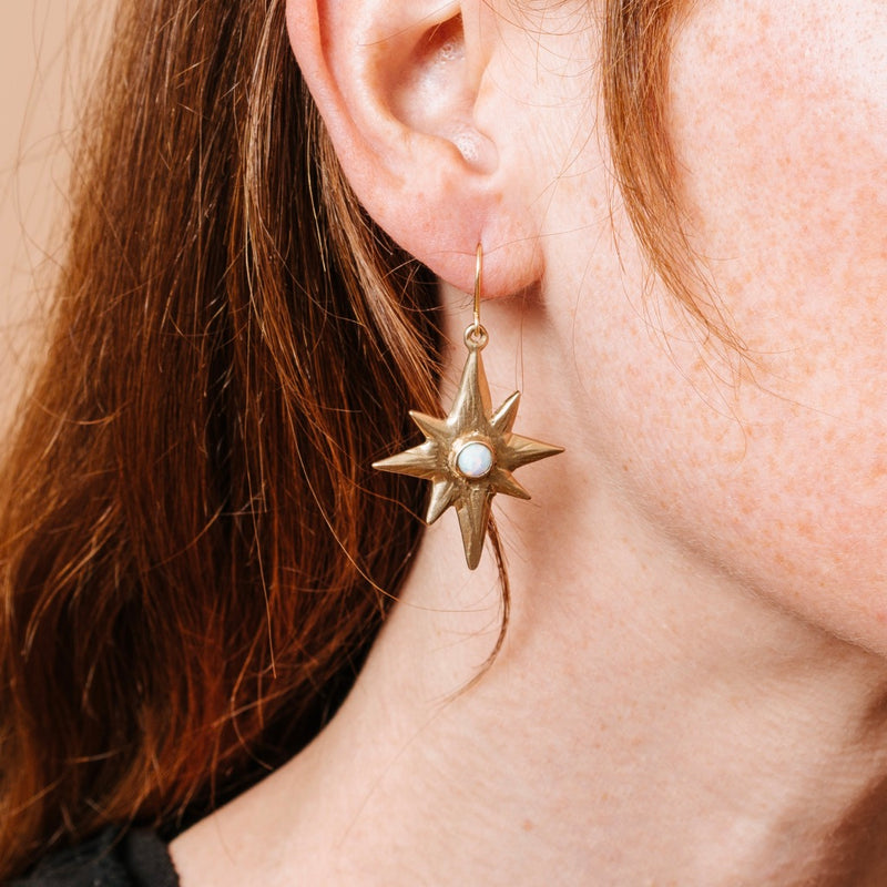 Single Star Polaris Earrings