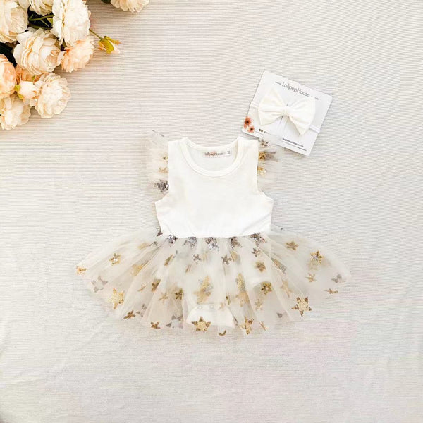 Miracle TuTu + Bow - White