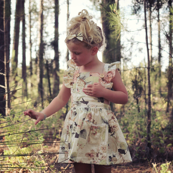 Detachable Flutter Pinny + Headband - Fawn,  - LollipopHouse