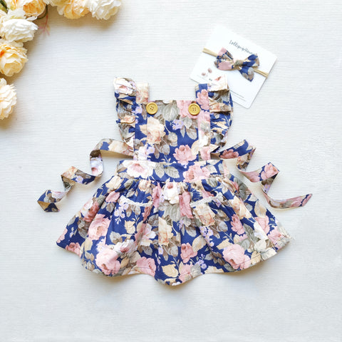 Detachable Flutter Pinny + Headband - Fleur,  - LollipopHouse