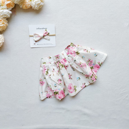 Detachable Flutter Pinny + Headband - Petal,  - LollipopHouse
