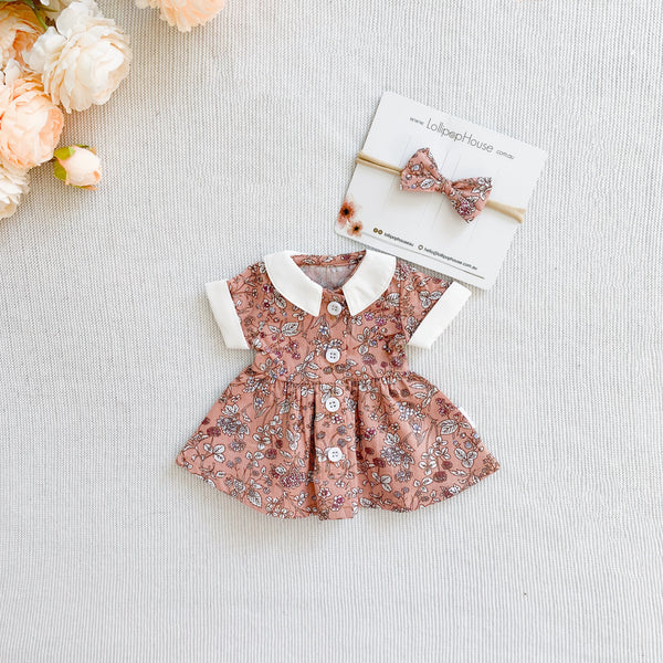 Doll Polly Dress + Headband - Adeline