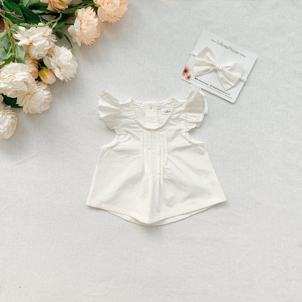Flutter Top + Bow - Olivia