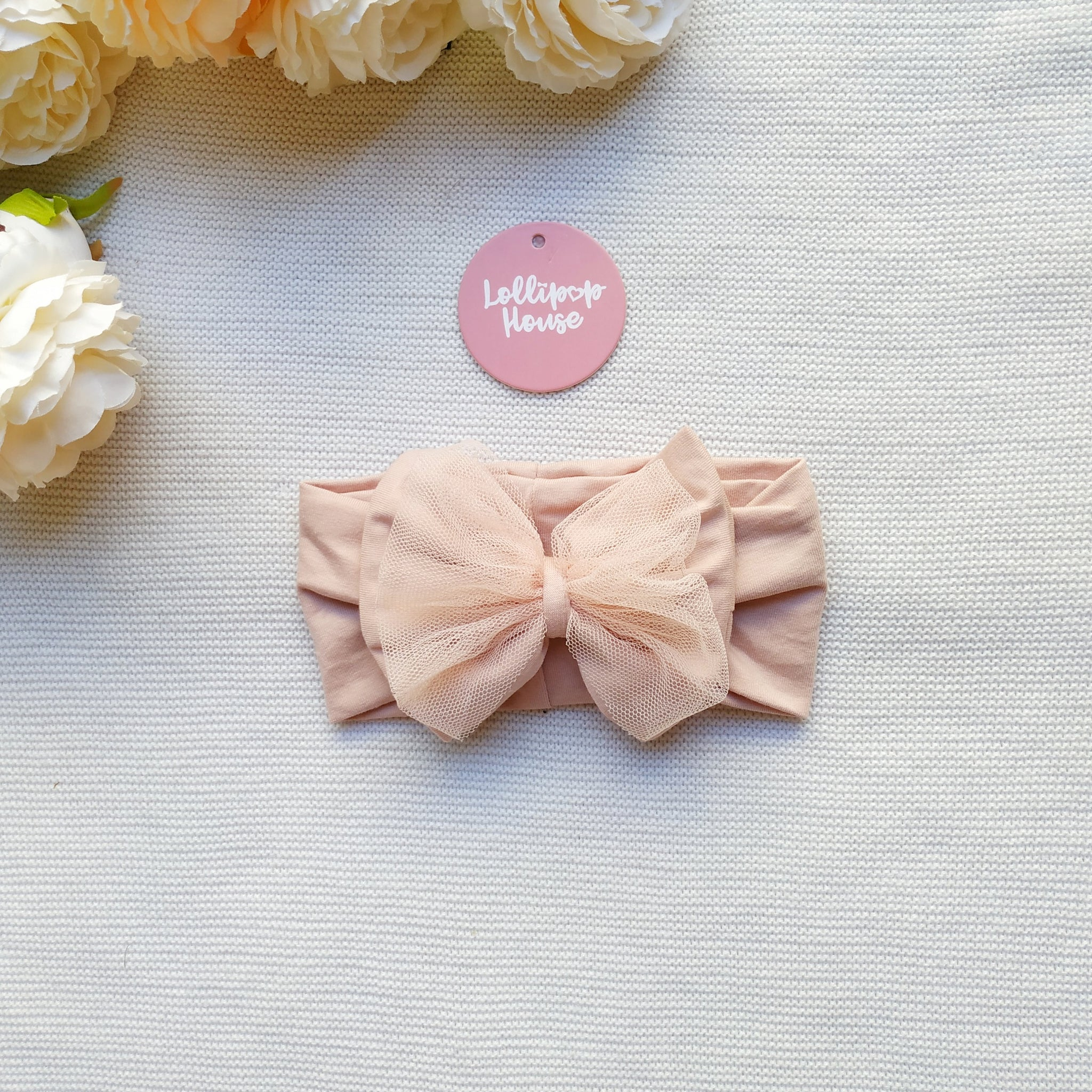 Tulle Headwrap - Blush,  - LollipopHouse