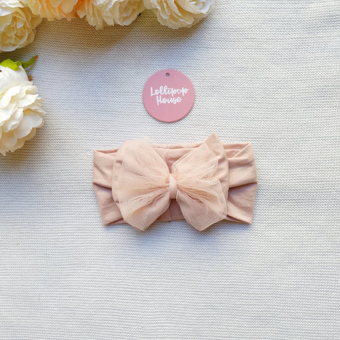 Tulle Headwrap - Dusty Blush,  - LollipopHouse