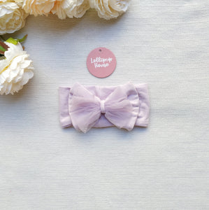Tulle Headwrap - Pale Lilac,  - LollipopHouse