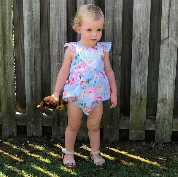 Bubble Romper + Headband - Ava,  - LollipopHouse