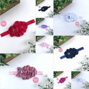 Isabella Headband - Ruffled Satin Bow,  - LollipopHouse