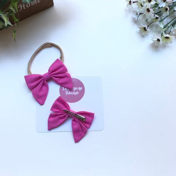 Sailor Bow Hair Clip / Headband,  - LollipopHouse