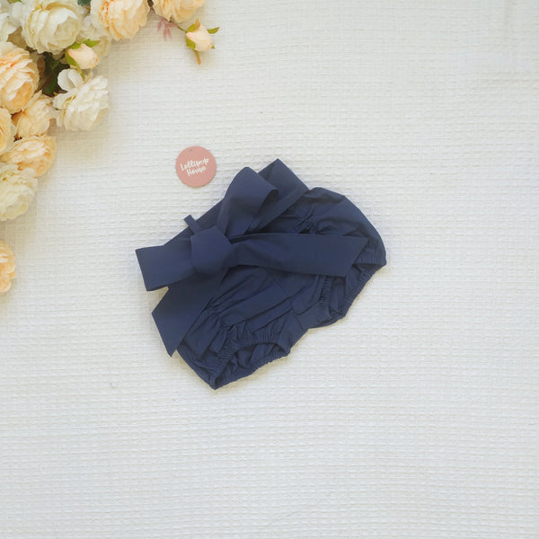 Detachable Pucker Shorts w Belt - Navy,  - LollipopHouse