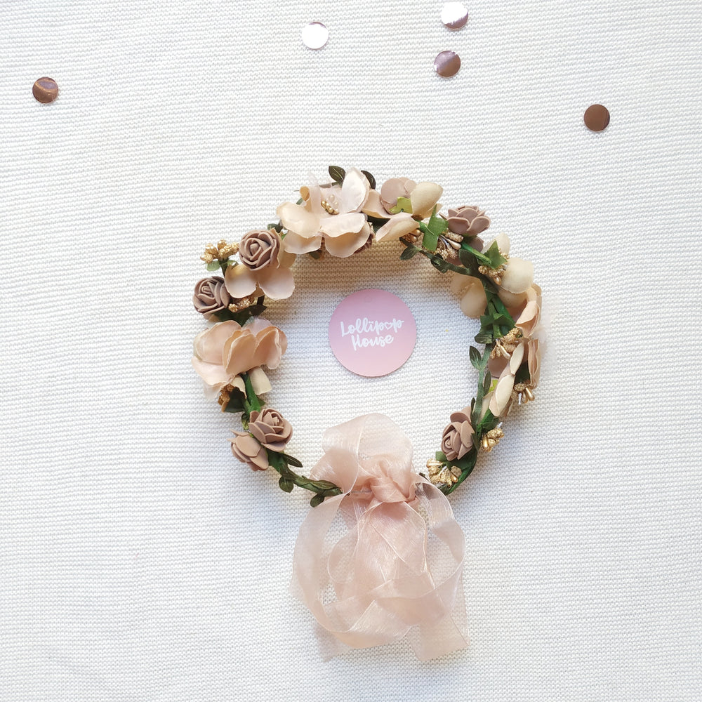 Lightweight Flower Crown - Fawn