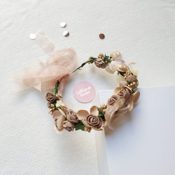Lightweight Flower Crown - Fawn,  - LollipopHouse