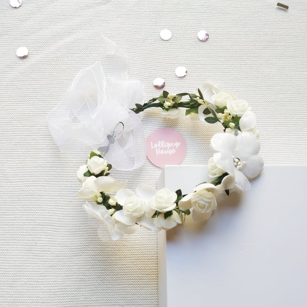 Lightweight Flower Crown - Pearl,  - LollipopHouse
