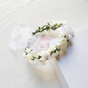Lightweight Flower Crown - Pearl