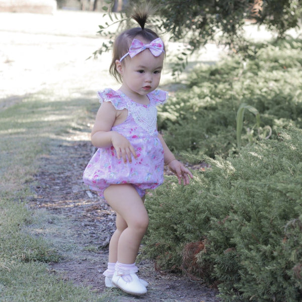 Bubble Romper + Headband - Aiyah,  - LollipopHouse