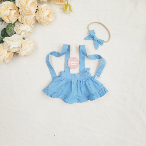 Doll Ruffle Skirt + Headband - Powder Blue,  - LollipopHouse