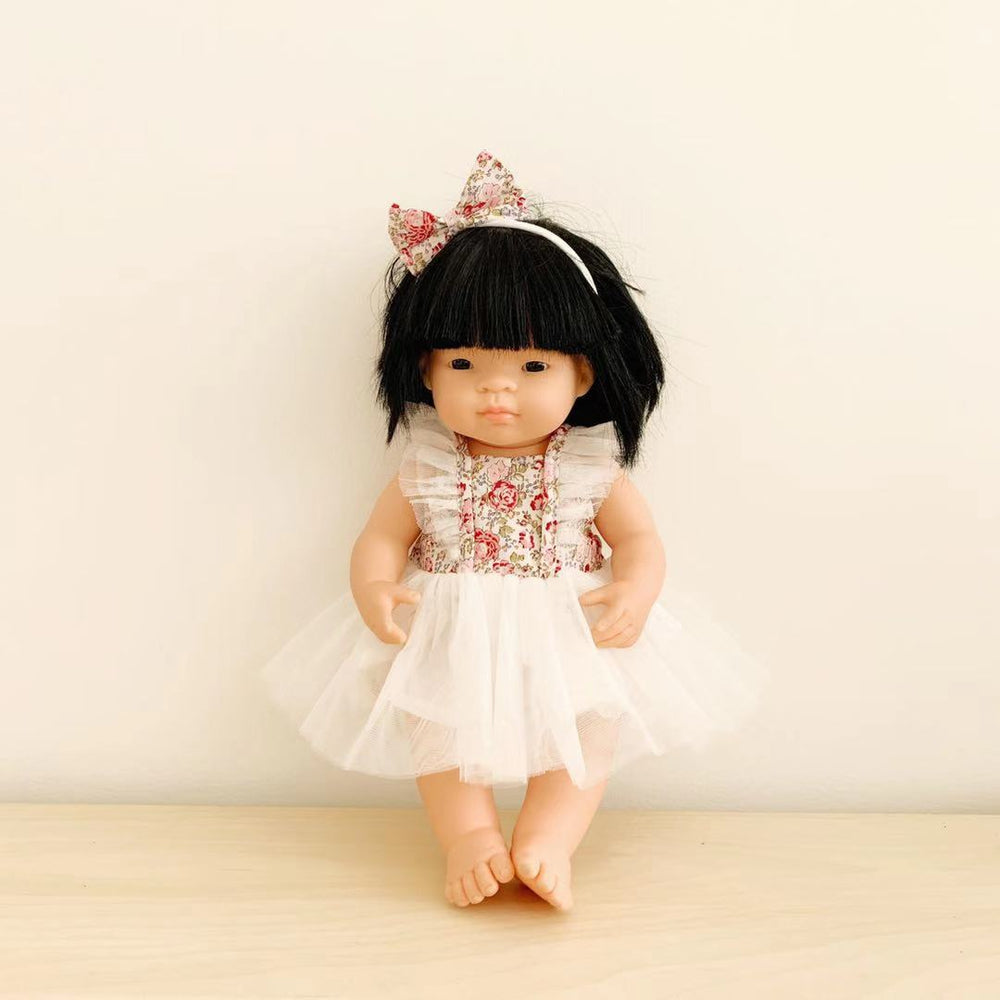 Doll Fairy Tutu Dress + Bow - Rosetta