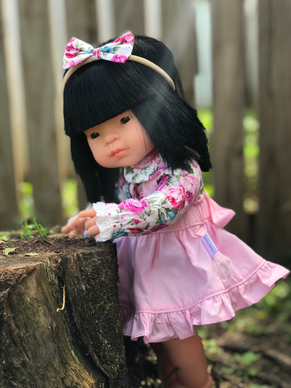 Doll Collared Blouse + Headband - Annaleise,  - LollipopHouse