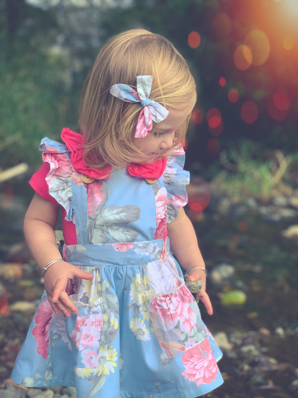 Detachable Flutter Pinny + Headband - Kenzie,  - LollipopHouse