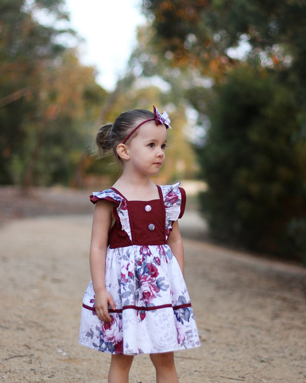 Sweetheart Dress + Headband – Hannah,  - LollipopHouse