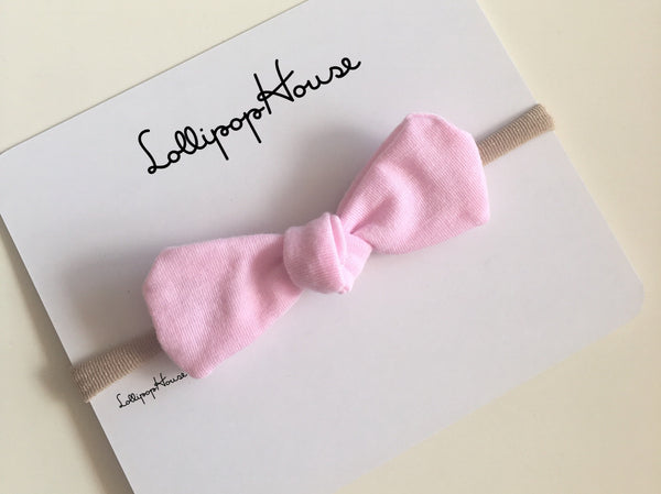 Luca Baby Headband - stretch cotton bow,  - LollipopHouse