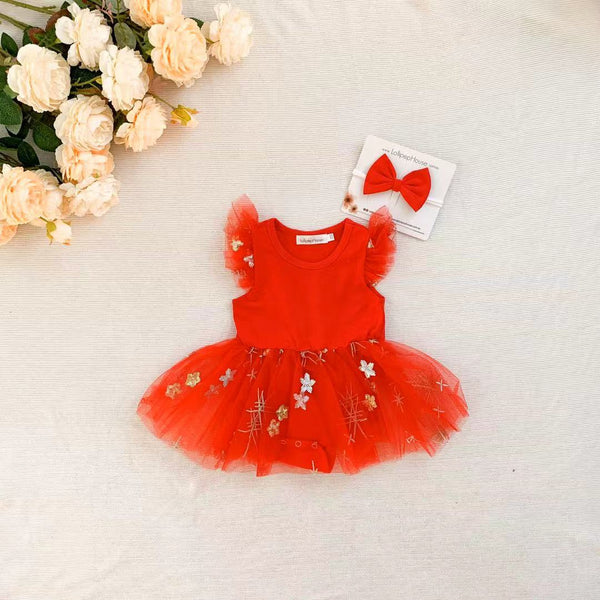 Miracle TuTu + Bow - Candy Red