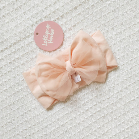 Tulle Headwrap - Peach,  - LollipopHouse
