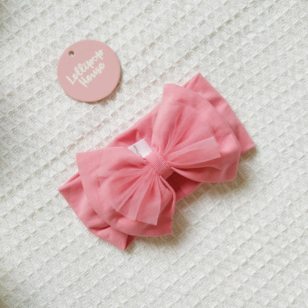 Tulle Headwrap - Rose,  - LollipopHouse