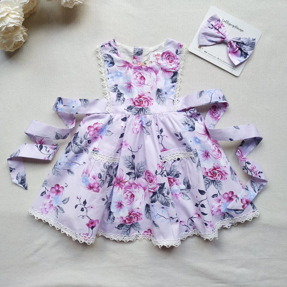 Bib Dress + Hair Clip – Chelsea