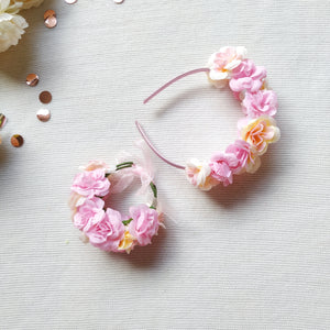Flower Crown + Wristband Set,  - LollipopHouse