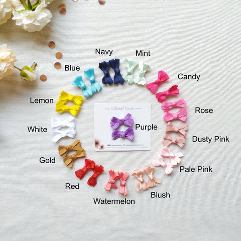 Ribbon Hair Clips - 14 colors,  - LollipopHouse