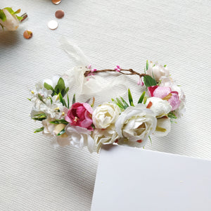 Flower Crown - Ivory Rose,  - LollipopHouse