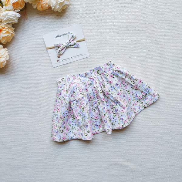 Detachable Flutter Pinny + Headband - Mia,  - LollipopHouse