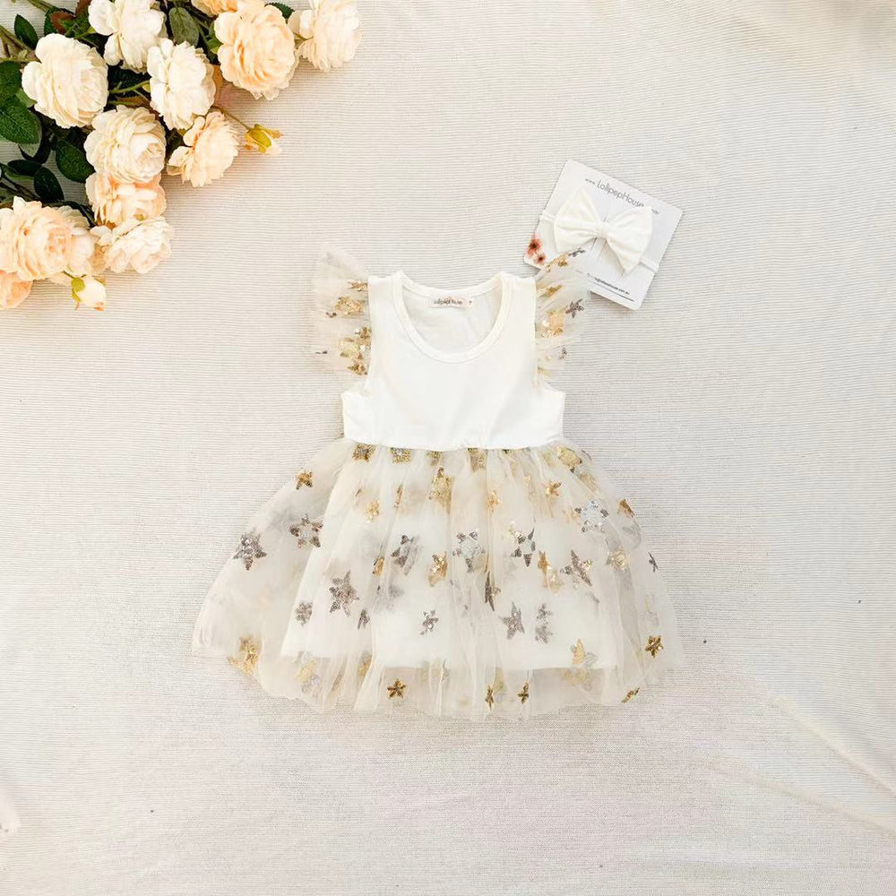 Miracle Dress + Bow - White
